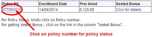 LIC Policy Search By Name