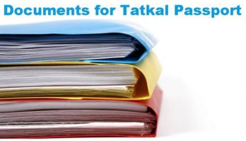 Documents for Tatkal Passport
