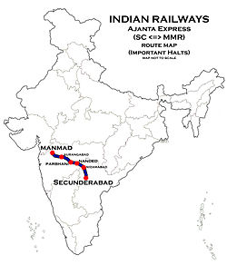 Ajantha_Express_Route_map