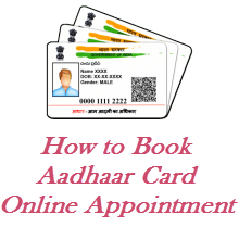 Book appointment for aadhaar