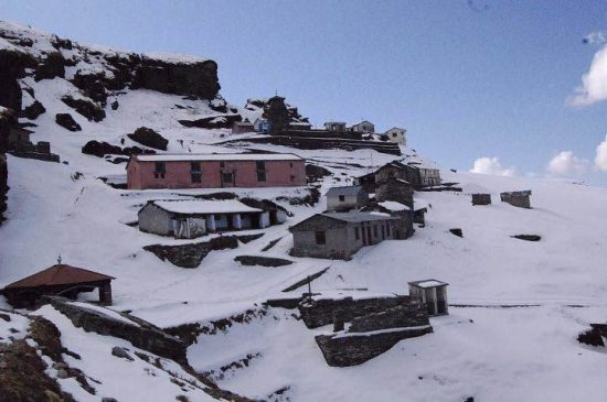 snowfall in tungnath and chopta