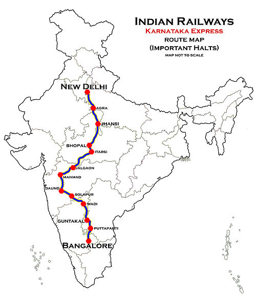 Karnataka_Express_(SBC_-_NDLS)_Route_map