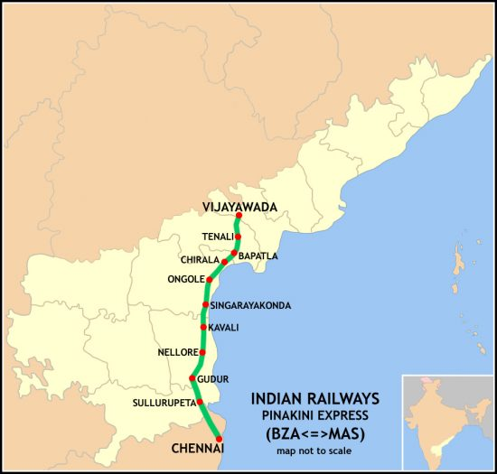 Pinakini_Express_Route_map