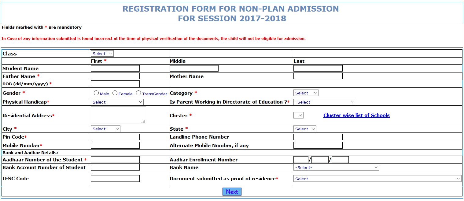 How to Register/Apply online at edudel.nic.in
