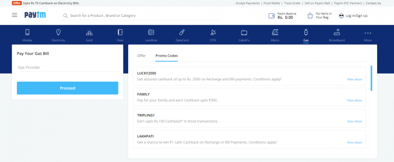 Process for HP Gas Online Payment through Paytm