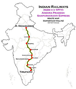 Andhra_Pradesh_Samparkkranti_Express_(NZM_-_TPTY)_Route_map