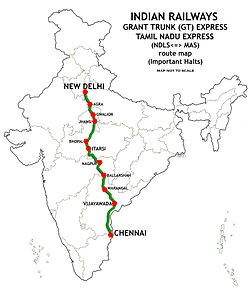 Grand_Trunk_Express_and_Tamil_Nadu_Express_(NDLS-MAS)_Route_map