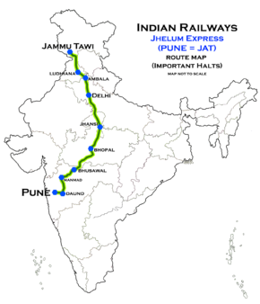 Jhelum_Express_Route_map