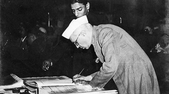 Pandit Jwaharlal Nehru set the road map for the constitution