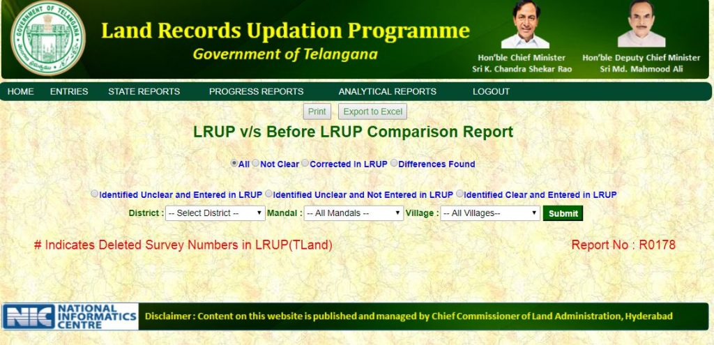 Telangana Land Records Updating Programme