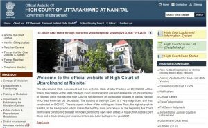 high court of uttarakhand website
