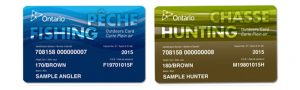 ontario fishing licence cards