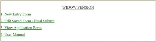widow pension online form