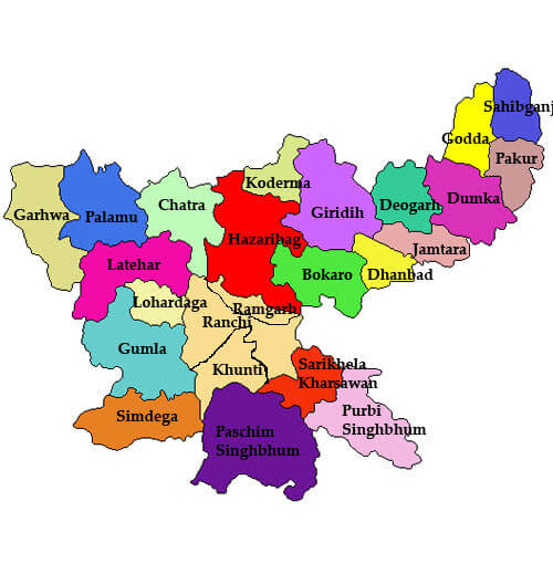 Jharkhand Districts