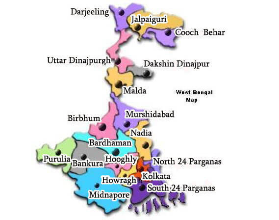 West Bengal districts