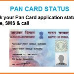 pan card status tracking sms call