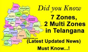 zones in telangana - 1 new zones and 2 metro zones in telangana
