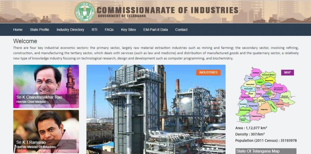 Industries Department of the Telangana State