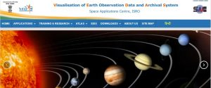 Visualization of Earth observation Data and Archival System