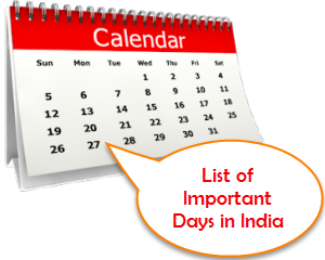 List of Important Days in India