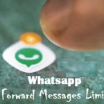 WhatsApp forward messages limit
