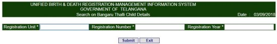 Telangana Date of Birth Certificate Online