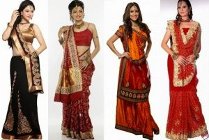 how to wear gujrati saree