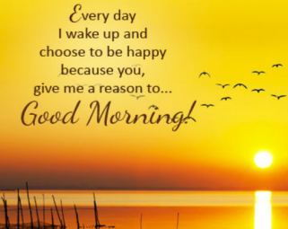 Why do we say good morning