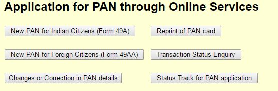 Steps of Application for duplicate PAN Card