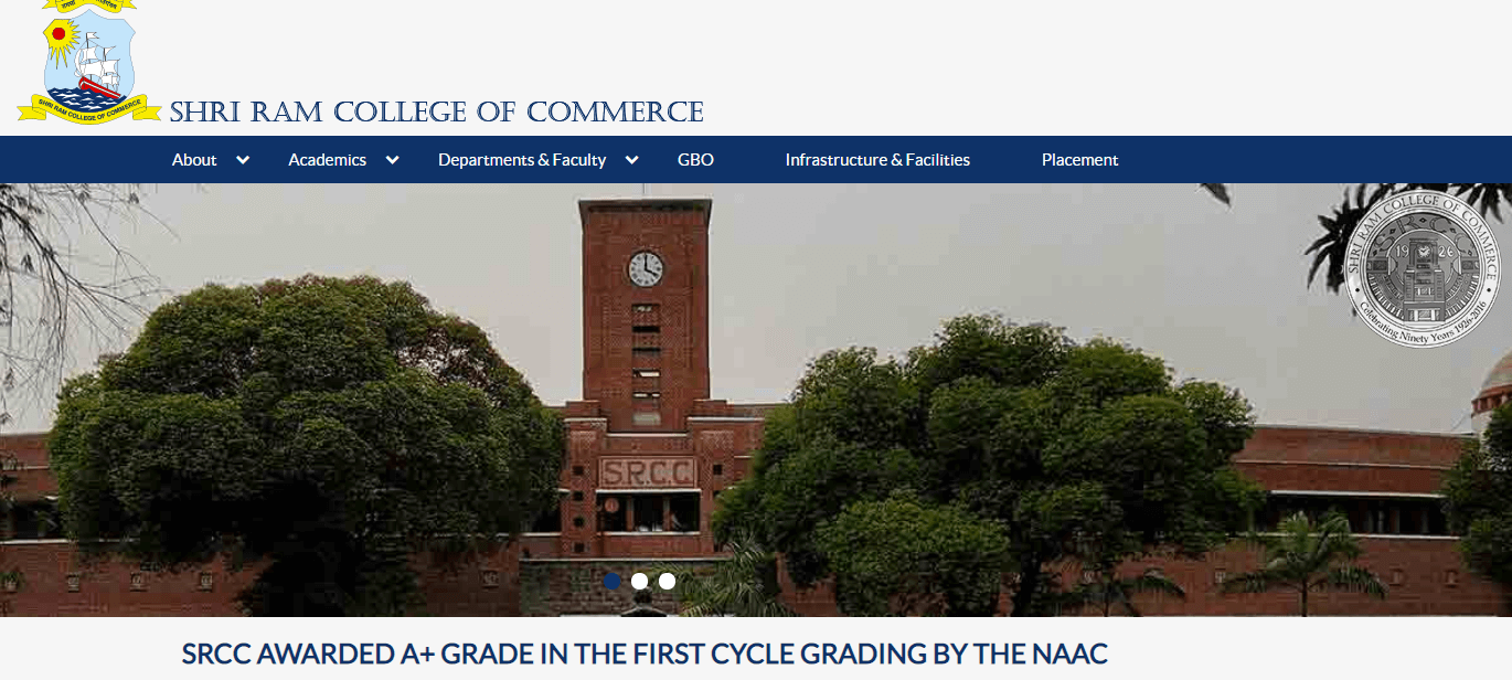 sri ram college of commerce SRCC Delhi
