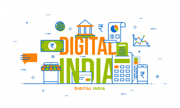 digital-india-concept-with-financial-elements
