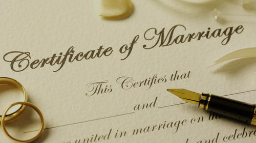 marriage registration certificate