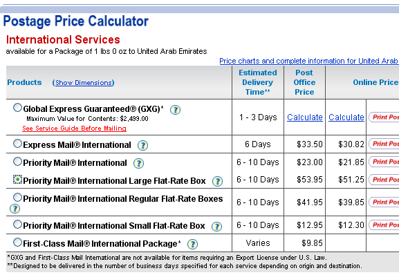 postage-price-calculator