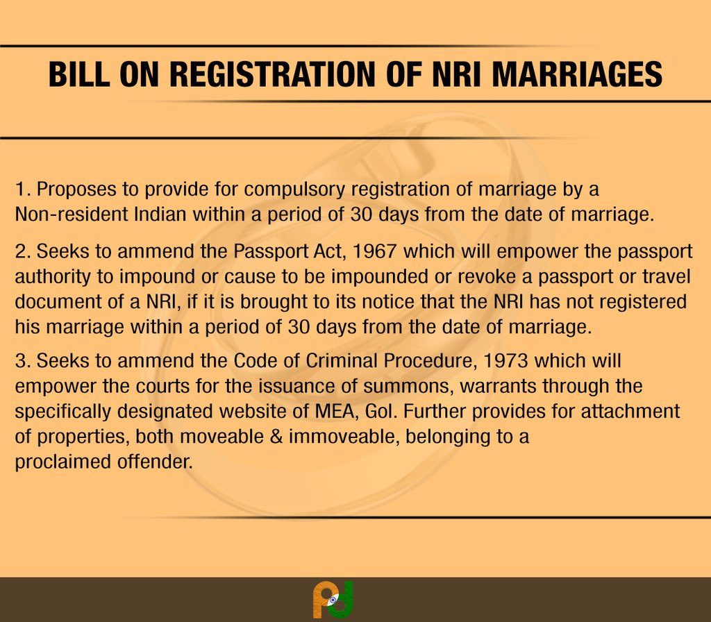 registration of NRI marriages