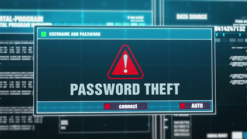Password theft and entering the system